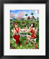 Framed Pushing Daisies Lily and Vivian Lawn Chairs
