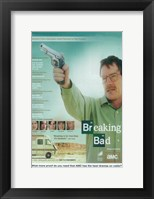 Framed Breaking Bad - man with a gun