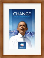 Framed Barack Obama  - (First) Campaign Poster