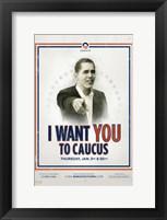 Framed Barack Obama -  (Iowa Caucus) Campaign Poster