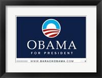 Framed Obama Logo Campaign Poster