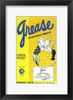 Framed Grease (Broadway) New Musical Comedy