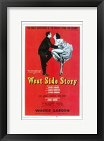 Framed West Side Story (Broadway) red cover