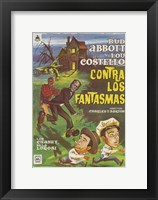 Framed Bud Abbott and Lou Costello Meet Frankenstein, c.1948 (Spanish)