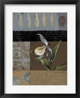 Slipper Orchid in Blue II Framed Print