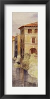 On the River Bacchiglione Framed Print