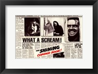 Framed Shining - news paper