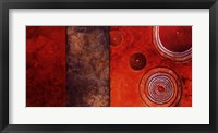 Framed Red Spirals I