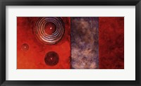 Red Spirals II Framed Print