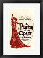 Framed Phantom of the Opera Art Deco