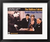 Framed Maltese Falcon Humphrey Bogart