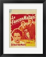 Framed Maltese Falcon De Valk Van Malta