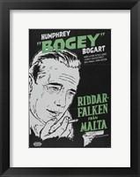 Framed Maltese Falcon Riddar Falken