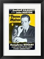Framed Maltese Falcon Le Faucon Maltais