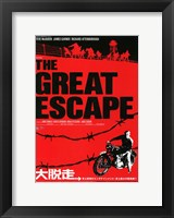 Framed Great Escape Red and Black