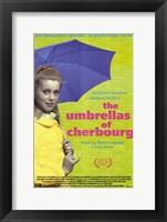 Framed Umbrellas of Cherbourg Blue Umbrella