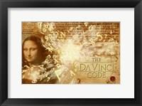 Framed Da Vinci Code Mona Lisa Text