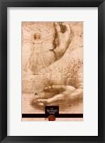 Framed Da Vinci Code Hands