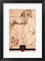Framed Da Vinci Code Horse Sketch