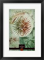 Framed Da Vinci Code Hithto Shalt Thou Come But No