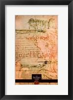 Framed Da Vinci Code Orange Sketch