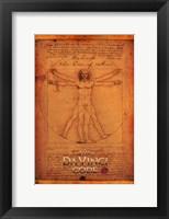 Framed Da Vinci Code Vitruvian Man