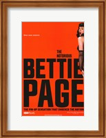 Framed Notorious Bettie Page - style A