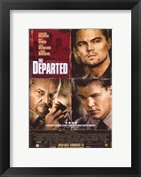Framed Departed Damon DiCaprio Nicholson
