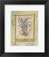 Framed Iris Still Life Composition