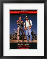Framed Harley Davidson and the Marlboro Man