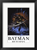 Framed Batman Returns Comic Throwing Blade