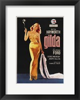 Framed Gilda Rita Hayworth with Coat