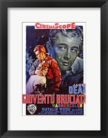 Framed Rebel Without a Cause Film Poster Italian