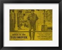Framed Taxi Driver Yellow Horizontal