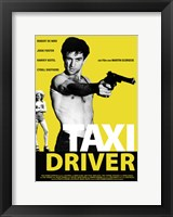 Framed Taxi Driver Black and Yellow