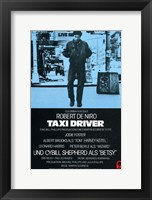 Framed Taxi Driver Blue