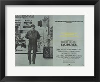 Framed Taxi Driver Gray Horizontal
