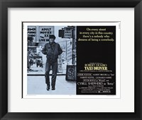 Framed Taxi Driver Light Blue Horizontal