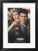 Framed Top Gun Tom Cruise & Kelly McGillis
