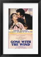 Framed Gone With The Wind Kiss on the Cheek
