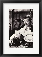 Framed Gone With The Wind Clark Gable Black & White