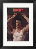 Framed Rocky Sylvester Stallone