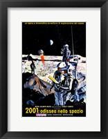 Framed 2001: A Space Odyssey Moon Landing