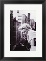 Framed Marilyn Monroe -  NYC balcony