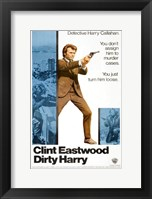 Framed Dirty Harry Detective Harry Callahan