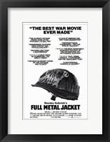 Framed Full Metal Jacket Black and White