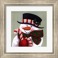 Framed Candy Cane Greetings