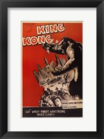 Framed King Kong Red