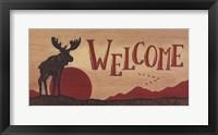Framed Moose Welcome