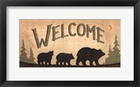 Framed Bear Welcome